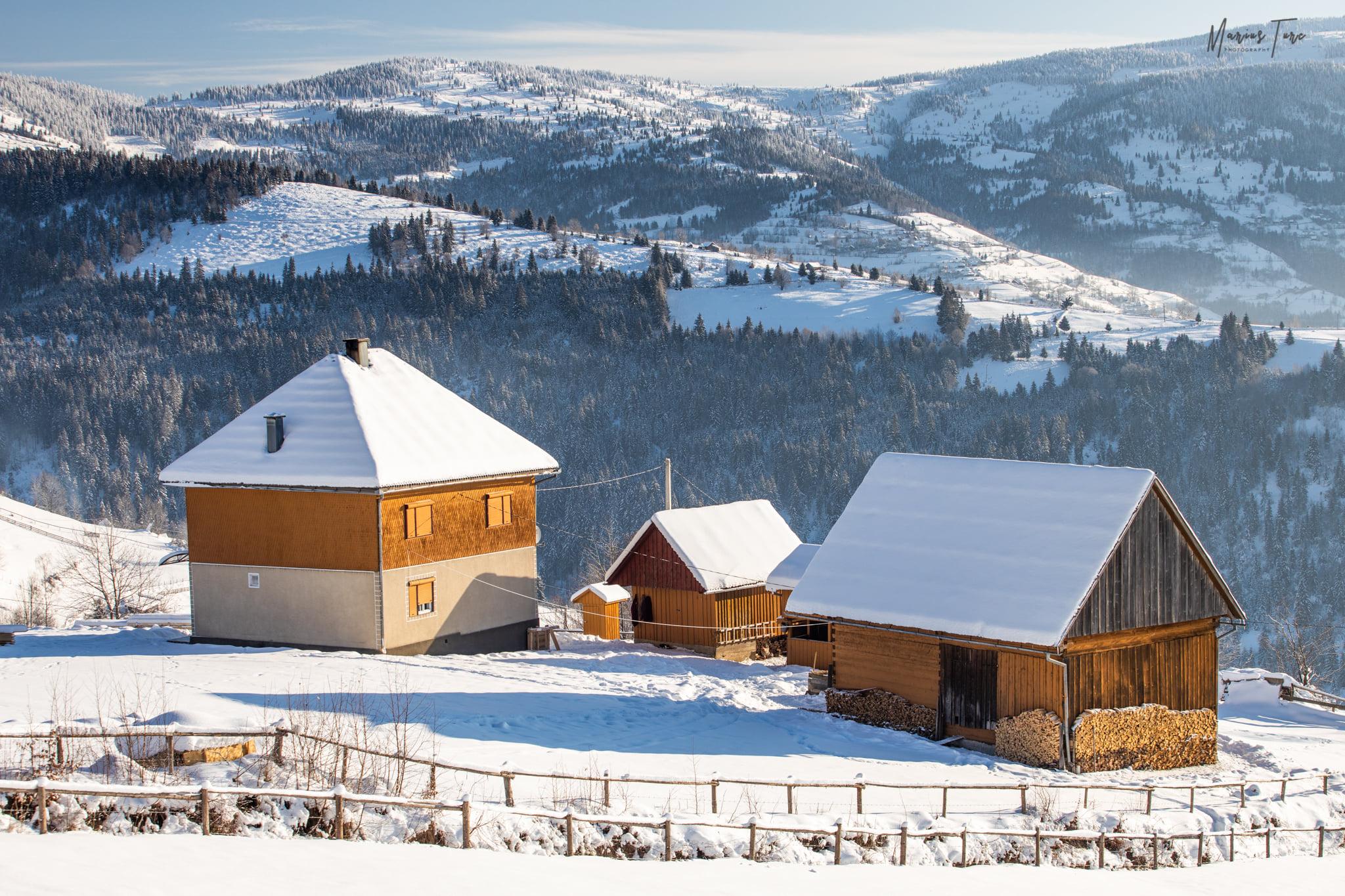 Printre catunele motesti cu case de lemn - Marius Turc