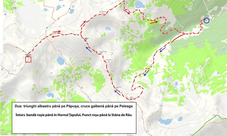 Harta traseu Stâna de Râu - Morar Daniel