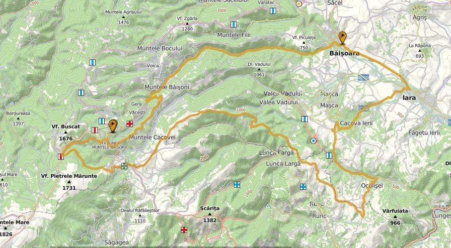 Băişoara - Mt. Boinic - Ocolişel