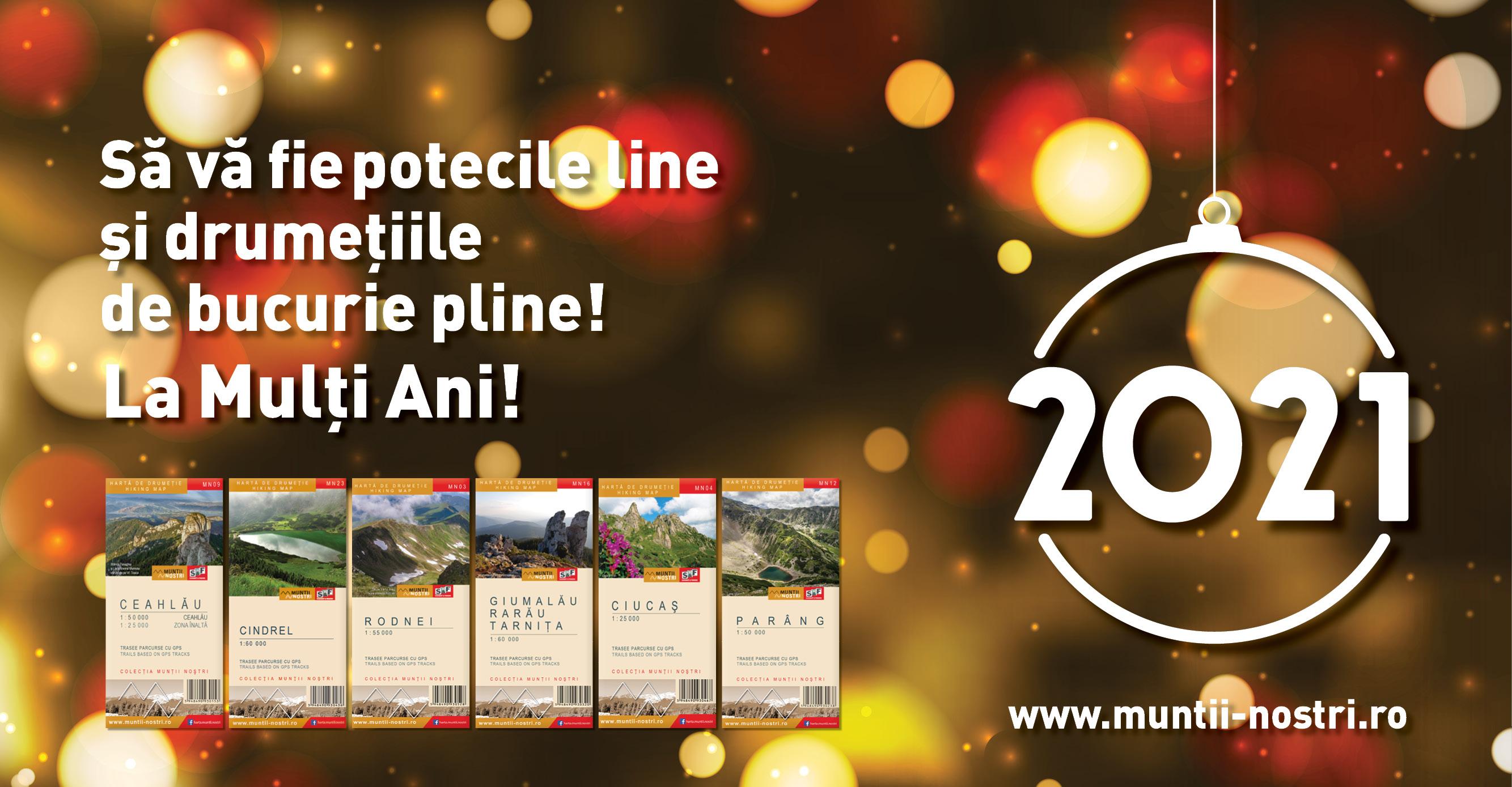 Felicitare Anul Nou 2021 Munții Noștri