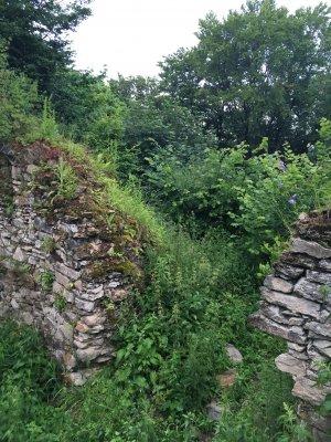 23mn img 28pg ruinele cetatii de pe varful cetatii