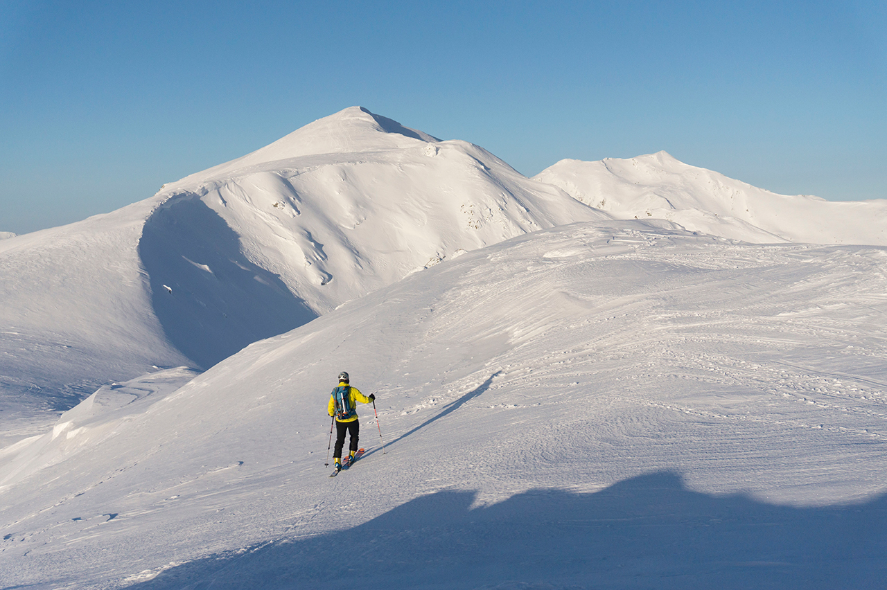 Urcare schi de tura - Alina Cirja - Banda Rosie